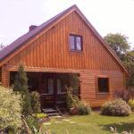 Domy z bali drewnianych są coraz częściej budowane